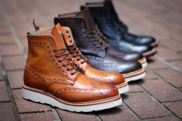 Grenson Fred V Wingtip Boots Young N Fly